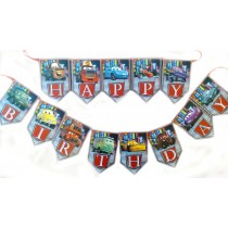 Car Happy Birthday Bunting