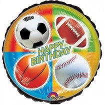 Sports Bday Foil Balloon 18''