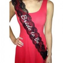 Bride to be lace Sash ( Black)