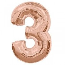 3 - Rose Gold Foil Balloon 40 inches