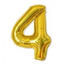 4 - Gold Foil Balloon 40 Inches