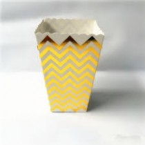 Gold  Foil Printed Popcorn cups (Set of 6)