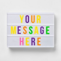 LED Message Light Box