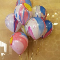 Marble Finish Latex Balloons (Set of 5)