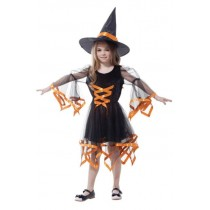 Moderns Witch Child Costume ( 5 - 7 Age )