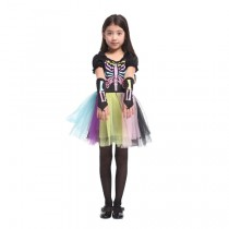 RAINBOW SKELETON Child Costume (5-8 Age)