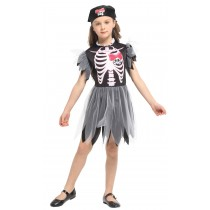 Naughty Skeleton Girl Child Costume ( SizeM 3 -5 Years )