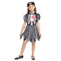 Naughty Skeleton Girl Child Costume ( Size XL 7 -9 Years )