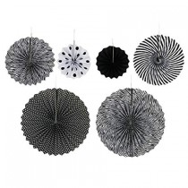 Paper Fan Set - Black