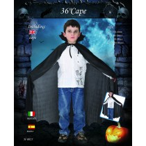 Cape - Dracula Black Child Size ( 5 To 12 Age ) 36Inch