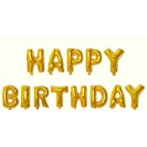 Happy birthday letter foil balloon(Gold)
