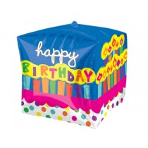 Square shape Bday foil Balloon 24''
