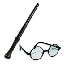 Harry Potter Wand and Eyeglass Set