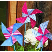 Windmill Decoration (6pcs) Assorted colors