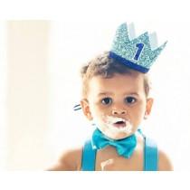 1st Birthday Boy Foam Crown
