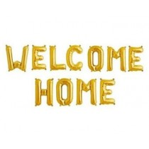 Welcom Home Letter Foil Balloon ( Gold )