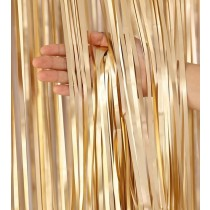 Gold Matte Finish Foil Curtain