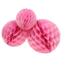 Pink Honeycomb Party Decoration- (Set of 3) 10""