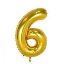 6 - Gold Foil Balloon 40 Inches