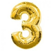 3 -  Gold Foil Balloon 40 Inches