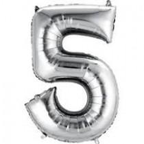 5 - Silver Foil Balloon 40 inches