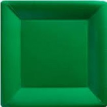Green Plastic Plates - Set of 12