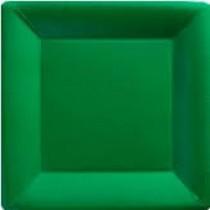 Green Plastic Plates - Set of 12