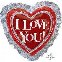 I love You Supershape Holographic ANAGRAM Foil Balloon
