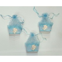 Blue Baby Box Favors - Set of 3