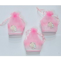 Pink Baby Box Favors - Set of 3