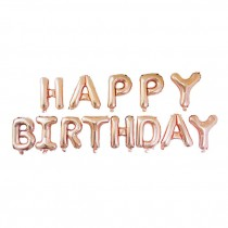 Happy Birthday Letter Rose Gold Balloon