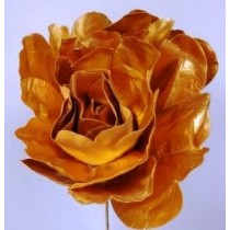 Flower Decoration - Metallic Gold