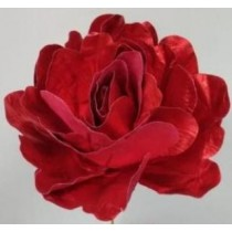 Flower Decoration - Metallic Red