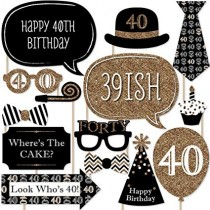 Photo Stick Set - 40th Birthday