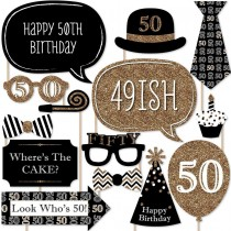 Photo Stick Set - 50th Birthday