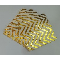 Tissue Set - Gold Foil Chevron Print  ( Set of 20 )