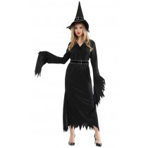 Black Evil Witch - Halloween Costume Adult Women
