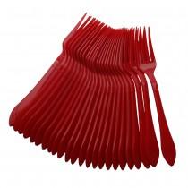 40 pc Fork Set - Red