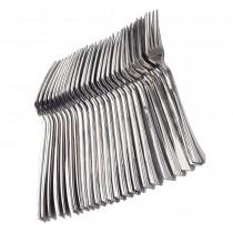 24 pc Fork Set - Metallic