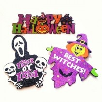 Glitter Halloween Hangings Set of 3