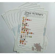 Baby Shower Emoji Game (set of 6pc)