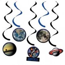 Swirls - Space theme ( Set of 5 )