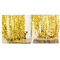 Gold Heart Foil Curtain