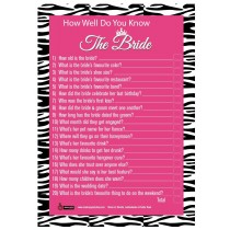 How Well Do You Know The Bride( set of 6)