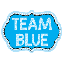 Team Blue Photo Booth Prop