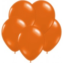 Orange Pearl Latex Balloons- set of 10