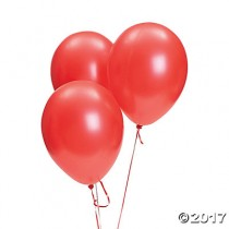 Red Pearl Balloons - Set of 10