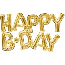 Happy B.Day Letter Foil Balloon