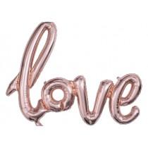 LOVE letter Foil Balloon (Rose gold)