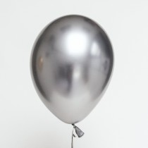 "Chrome Silver Qualtex 12"" Latex Balloons (Set of 3)"